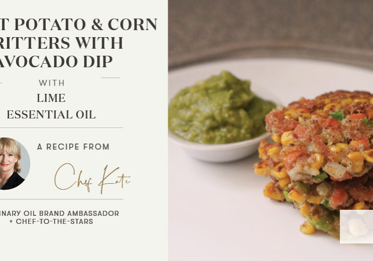 Sweet Potato and Corn Fritters with Avocado Dip