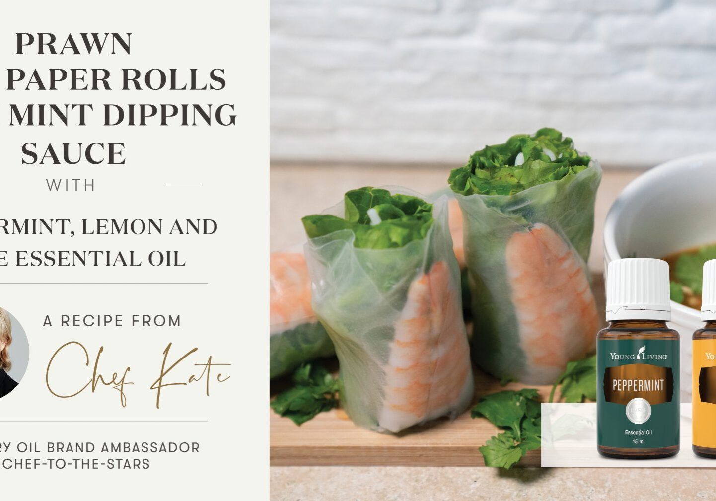 Prawn Rice Paper Rolls with Mint Dipping Sauce